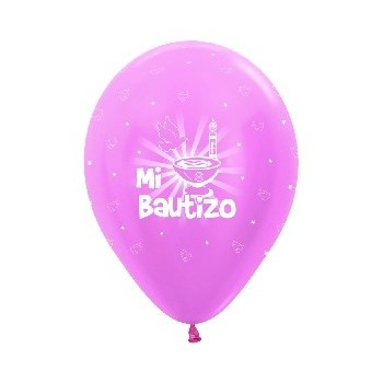B/10 Globo R12 Rosa Sat.Bautiz
