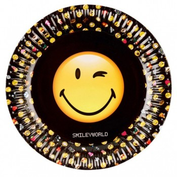 P/8 Plato 23Cm Smiley Emoticon