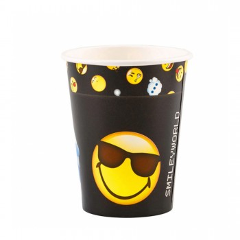P/8 Vasos Smiley Emoticonos