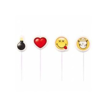 P/4 Velas Smiley Emoticonos