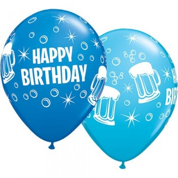 "Globo 11"" Birthday Cerveza Az"