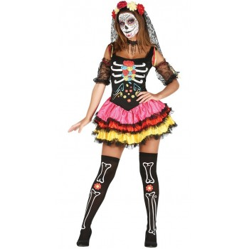 Disf.Catrina Color T-Xs-S