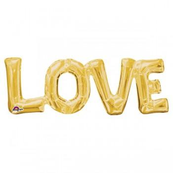 Globo Forma Love Oro