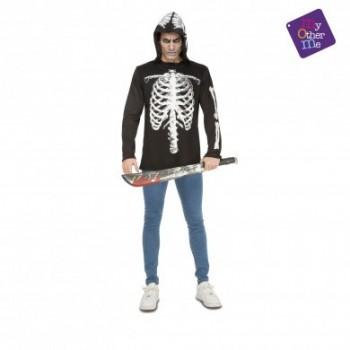 Camiseta Esqueleto Casual M/L