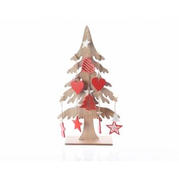 Arbol Navidad Madera Dec.55Cm