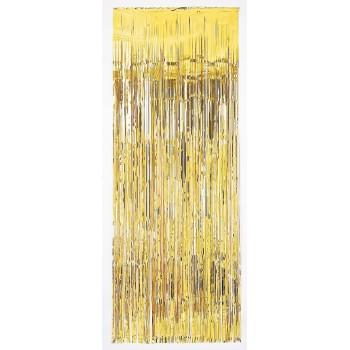 Deco.Cortina Metalica Oro