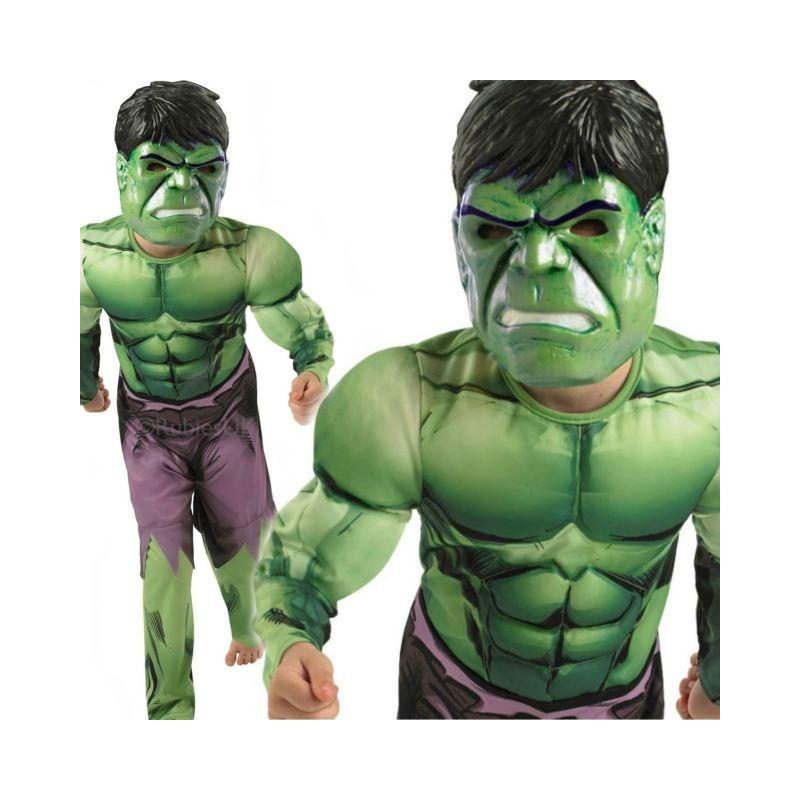 Disf.Hulk Deluxe 7-9 Años