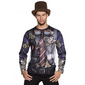 Camiseta Real.Mr Steampunk T-M