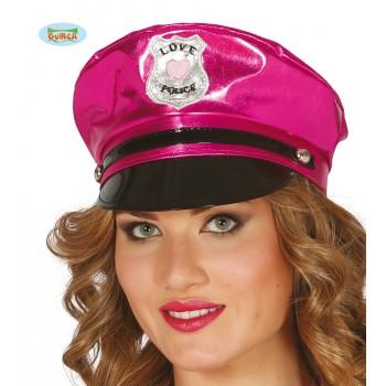 GORRA POLICIA SEXY ROSA