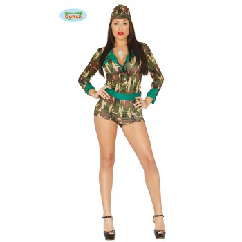 Disf.Chica Militar T-Xs/S