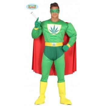 Disf.Superheroe Marihuana T-M