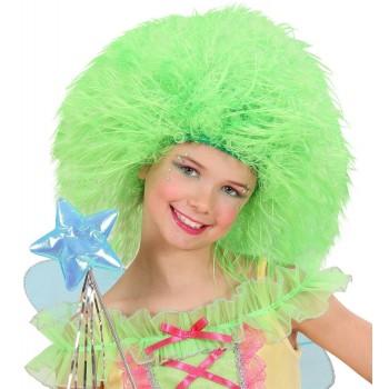 Peluca Inf.Fairy Verde Fluores