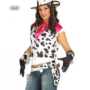 Cartuchera Vaca Doble C/Pistol