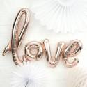 """Globo Foil """"Love"""" Oro Rosa 40"""""""