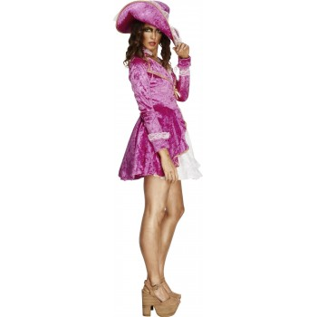 Disf.Pirata Chaqueta Rosa T-Xs