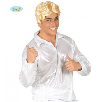 Camisa Disco Plata Brillo T-U