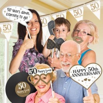 Kit Foto Gold Aniversario 50Th