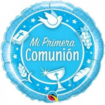 """Globo 18""""Mi 1A Comunion Azul"""