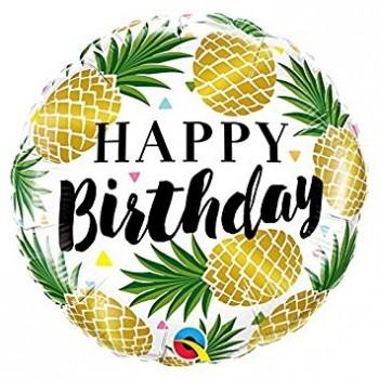 "Globo 18""Piñas Happy Birthday"