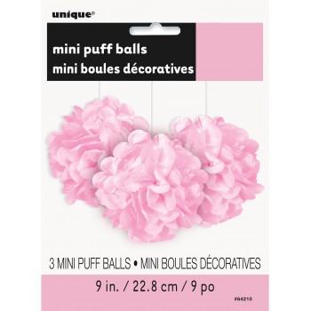 P/3 Pompon Rosa Pastel 23Cm