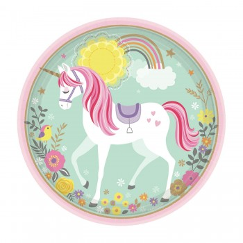 P/8 Plato 23Cm Unicornio Magic