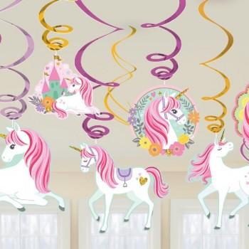 P/12 Colg.Dec.Unicornio Magico