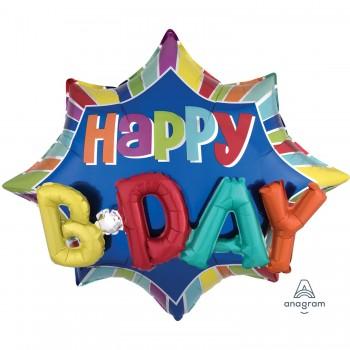 Globo Happy Birthday Letras