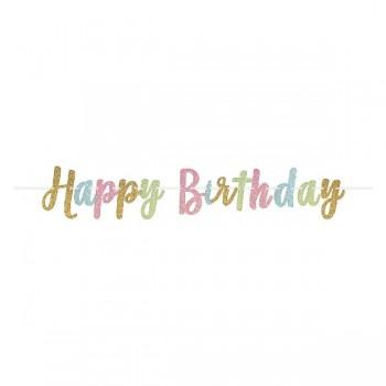 Guir.Letras H.Birthday Glitter