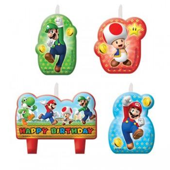 P/4 Velas Super Mario