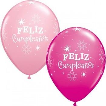 "Globo 11""Feliz Cumpleaños Rosa"