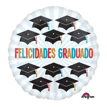 """Globo 18"""" Felicidades Graduado"""