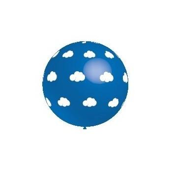 B/1 Globo 286Cm Nubes Azul