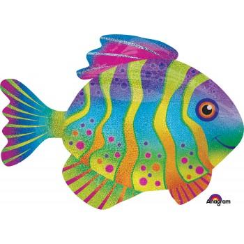 Globo Pez Multicolor Holog