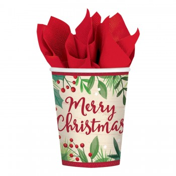 P/8 Vaso Merry Xmas Holly