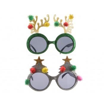 Gafas Navidad Purpurina Surt