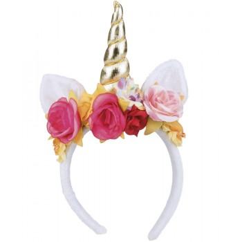 Diadema Unicornio C/Rosas