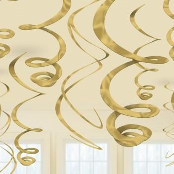 P/12 Deco Espiral Oro