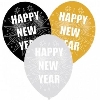 P/6 Globos Happy New Year Star