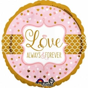 """Globo 32""""Love Always&Forever"""