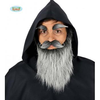 Barba Larga Gris C/Bigote