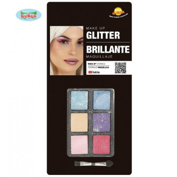 Set 6 Colores Sombras Glitter