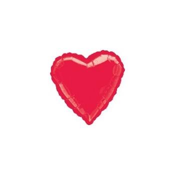 """Globo Corazón Rojo 18"""""""