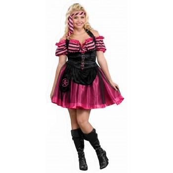 Disf.Chica Pirata Rosa T-Xl
