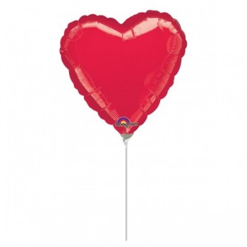 "Globo Mini Corazon 4"" Rojo"