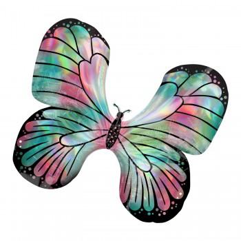 Globo Mariposa Iris.Rosa/Verde