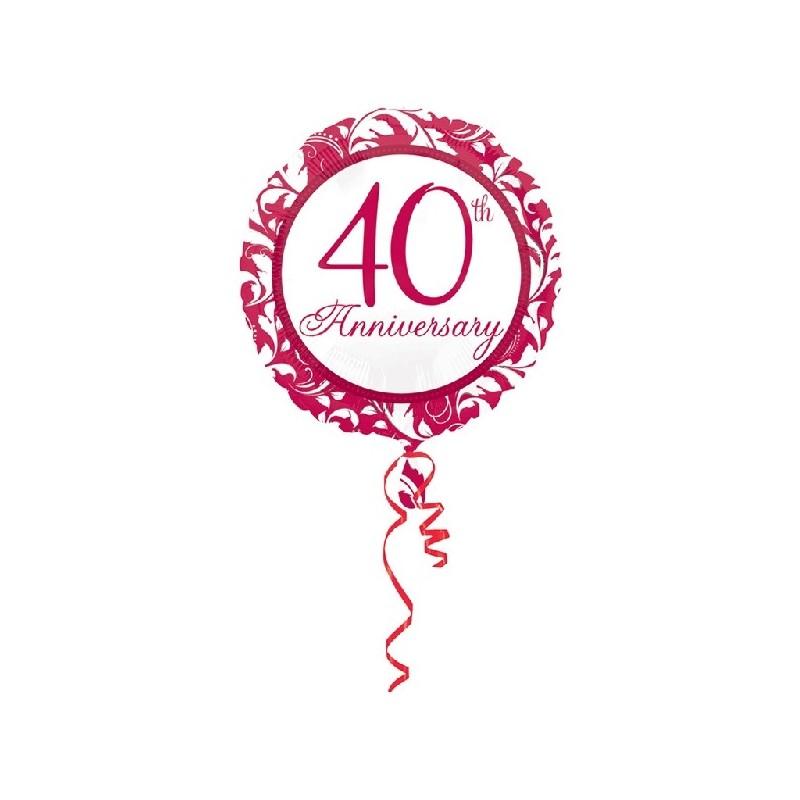 """Globo 18"""" 40Th Anniversary Rub"""
