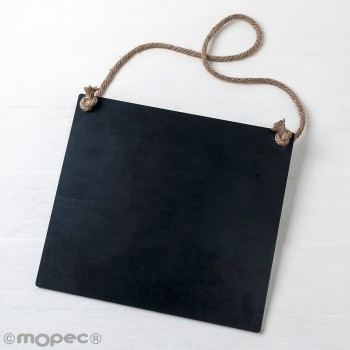 Pizarra Negra Cuerda 30X27x0,5