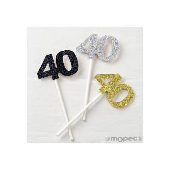 P/12 Pick 40 Años Plat/Oro/Neg