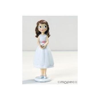 Fig.Comunión Niña Vestido Corto 16,5cm