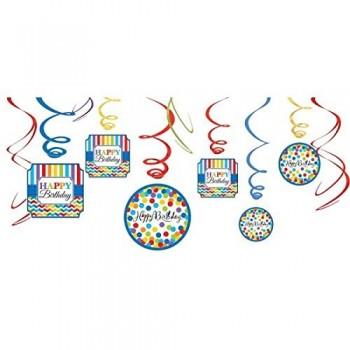 P/12 Deco.Espiral Happy Bday